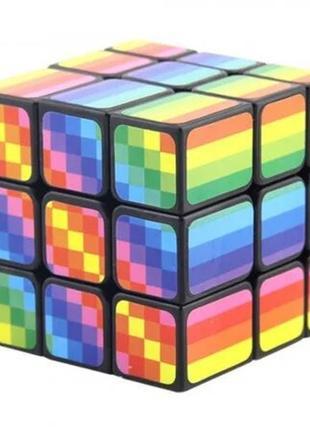 Кубик рубика 3х3х3 радужный + подарок