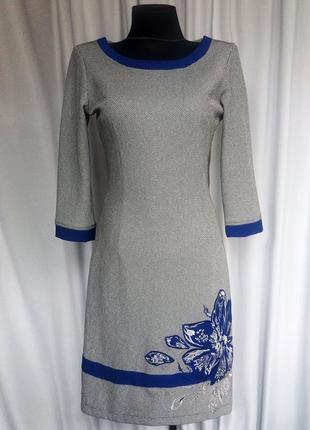 Стильное платье, аппликация и вышивка. турция. новое, р. 42-44, 50-54