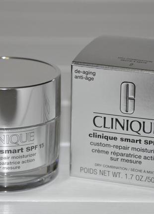 Дневной крем для лица clinique smart custom-repair moisturizer spf15 50мл