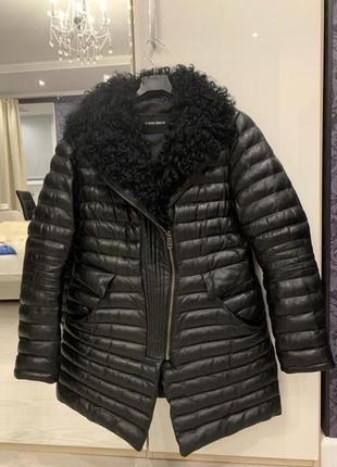 Куртка кожаная зима женская