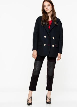 Новое шерстяное пальто zadig & voltaire утеплённое зима оригинал полупальто куртка премиум
