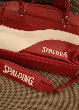 Вінтажна спорт шкір. сумка spalding