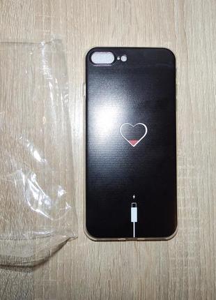 Чехол на apple iphone 7 plus подзарядка сердца дизайнерские чехлы
