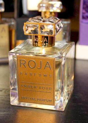 Roja parfums amber aoud crystal_original_parfum 5 мл затест_ духи