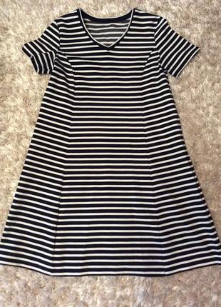 Платье в морском стиле в полоску