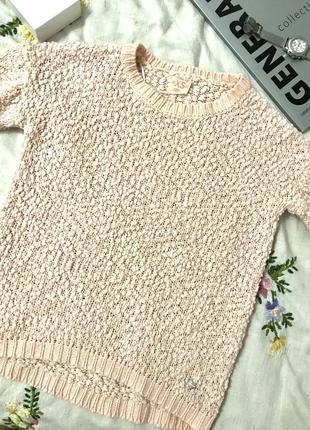Милый нюдовый свитер