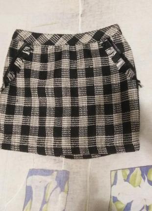 Sale aктуальна юбка в клітинку с бахромою обмен