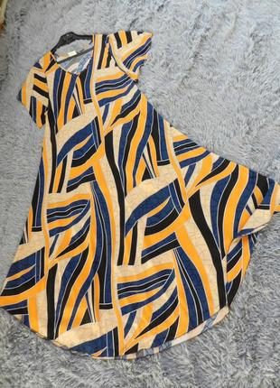 В наличии натуральное женское платье. модель из натуральной ткани ― штапель