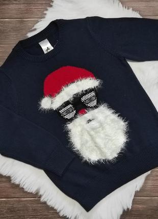 Кофта свитер дед мороз новогодний санта