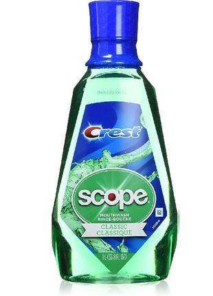 Ополаскиватель crest scope mouthwash rince-bouche classic, 1000мл