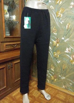 "Тёплые лосины-брюки на ""меху"",  без карманов."