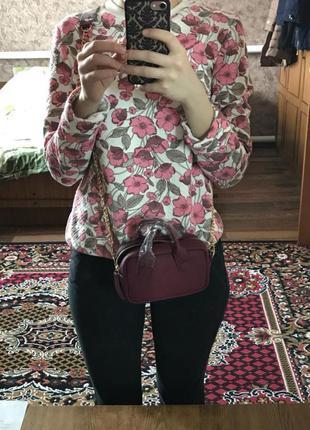 Маленькая сумочка бордовая качество супер