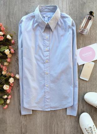 Базовая нежно голубая рубашка gap, размер s