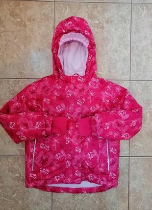 Стильная зимняя термо куртка теплая курточка зима еврозима lupilu