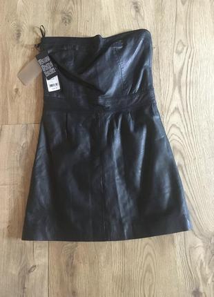 Кожаное платье корсет