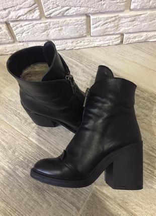 Шкіряні зимові черевики на мєху