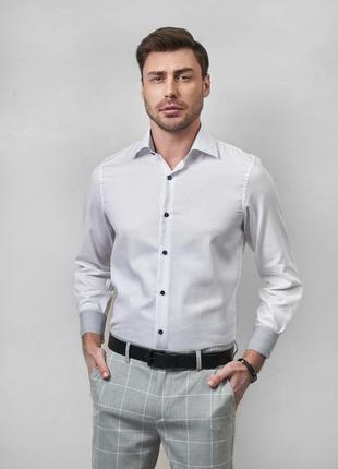 Рубашка фактурная базовая modern fit
