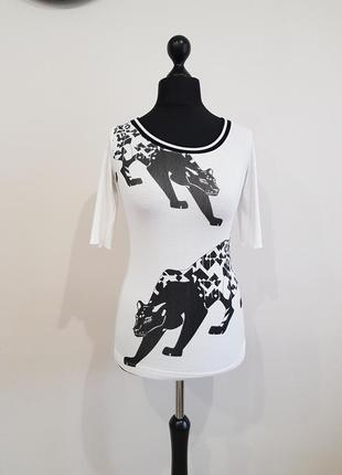 Белая блуза футболка marc cain