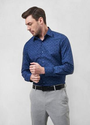 Рубашка сорочка с принтом modern fit