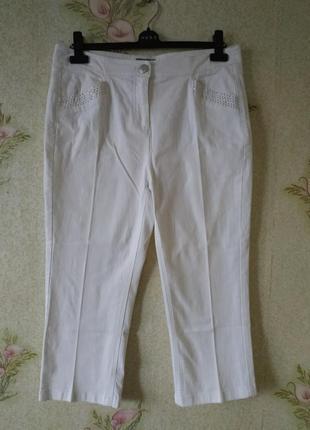 Новые женские укороченные джинсы # белые женские джинсы # m&s