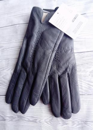 Tome&rose фирменные перчатки 100% натуральная кожа натуральна шкіра