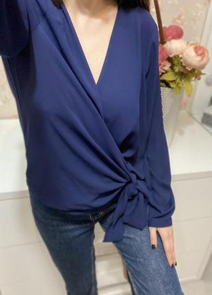Новая шифоновая блуза на запах большого размера