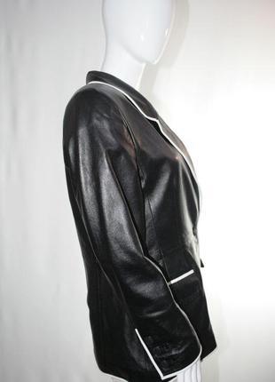 Louis feraud жакет піджак натуральна шкіра з контрасною окантовкою
