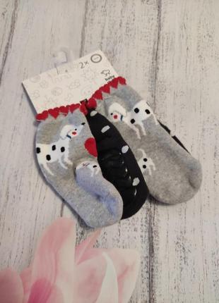 Махровые носки комплект  махрові шкарпетки 18/20 c&a германия