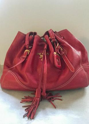 Оригинальная сумка prada cervo antik