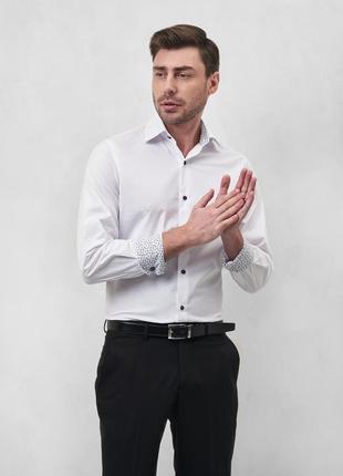 Рубашка базовая белая slim fit