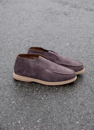 Очень качественные замшевые ботинки на меху/убедитесь/наложка 100