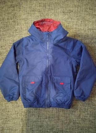 Двусторонняя утепленная куртка-ветровка decathlon, 128-134 см, 7-8 лет