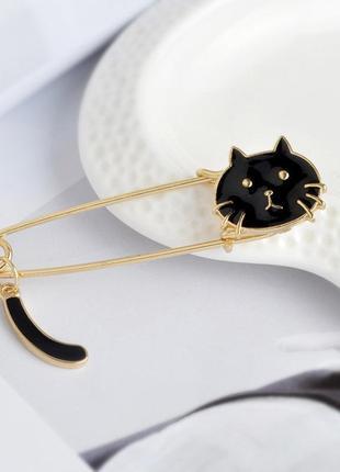 Брошь брошка булавка кот кошка