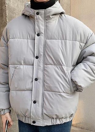 Оверсайз курточка пухан пуховик на зиму