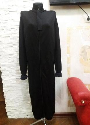 Cos стильное трикотажное платье / пальто на змейке