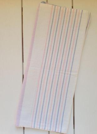 Льняное полотенце, в полоску,ссср, кухонний рушник, полотенце кухонное 150х46