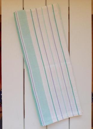 Льняное полотенце, в полоску,ссср, кухонний рушник, полотенце кухонное 150х48