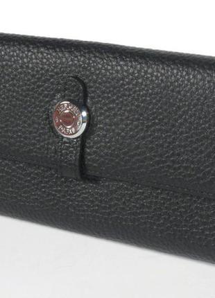 Кожаный кошелек, купюрник  2035 черный
