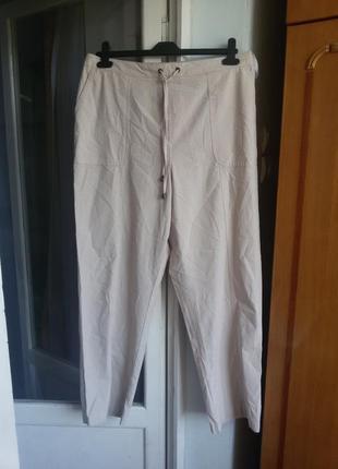Удобные стильные хлопковые брюки с карманами 100% хлопок isle ewm 16р