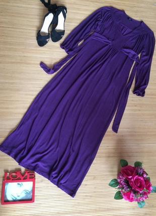 Стильное трикотажное платье в пол из вискозы, размер xxl