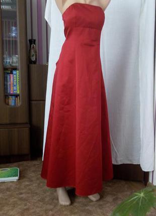 Красное длинное вечернее платье 48 размер debenhams скидка топ