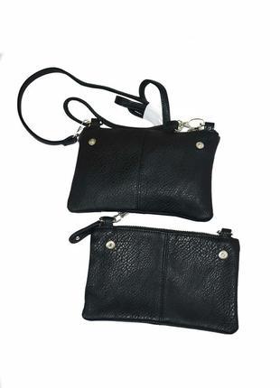 Маленькая женская черная сумка.  код п38435