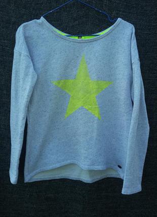Классный свитшот, пуловер, свитер, реглан, джемпер со звездой tom tailor