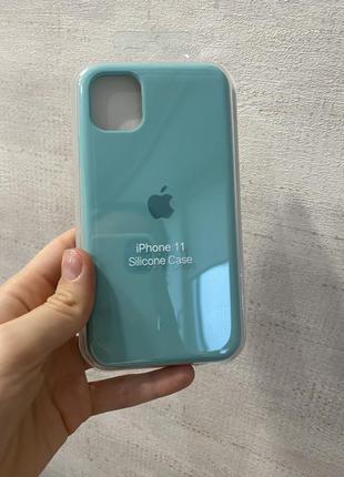 Чехол iphone 11 original case мятный цвет