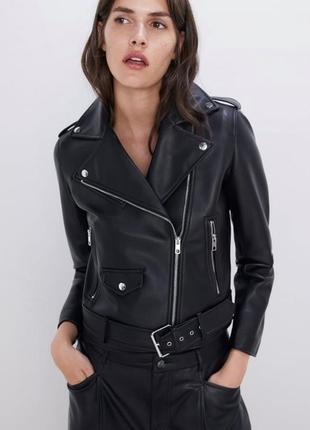 Женская куртка косуха zara