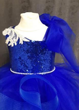 Детское платье на новый год. детское платье на выпускной.платье снежинки