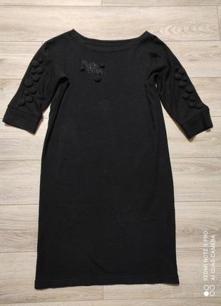 Плаття чорне вязане 52р