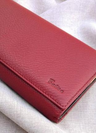 Большой кожаный кошелек-картхолдер, 100% натуральная кожа, есть доставка бесплатно
