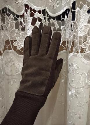 Замшевие перчатки,рукавиці англия