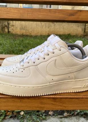 Оригинал кожаные кроссовки nike air force 1 low 07 white 315122-111